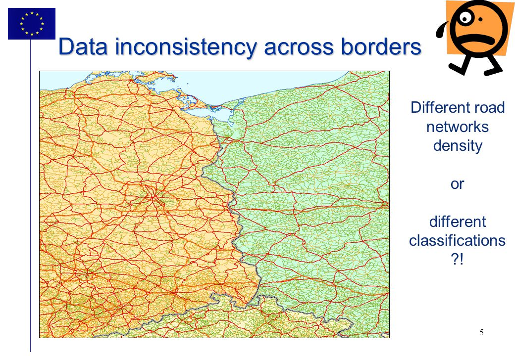 6 6 Data inconsistency across borders Administrative boundaries are not matching