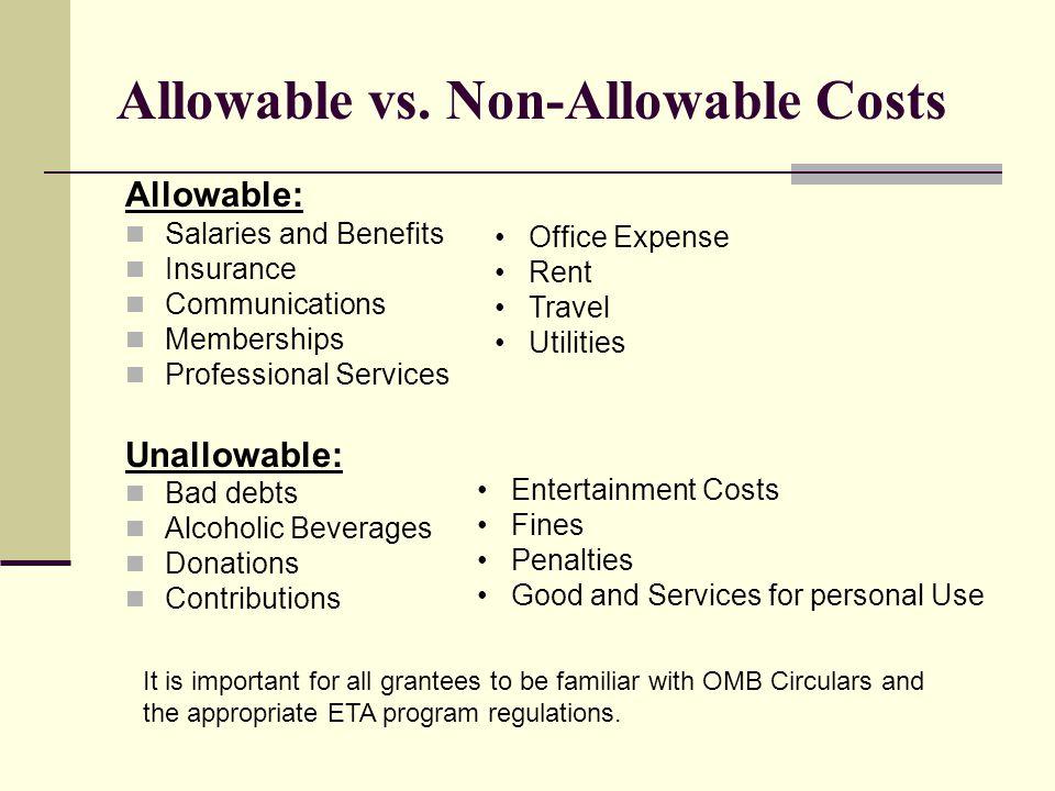 Allowable vs.