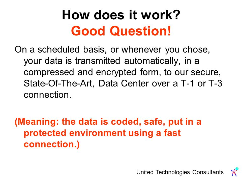 United Technologies Consultants How does it work. Good Question.