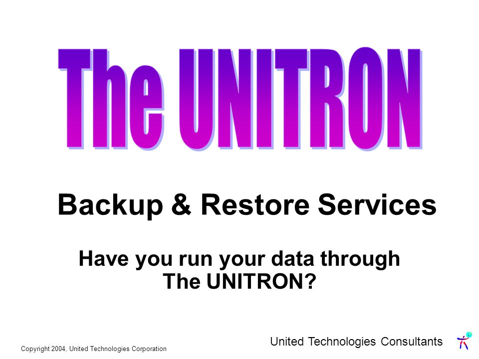 Have you run your data through The UNITRON.