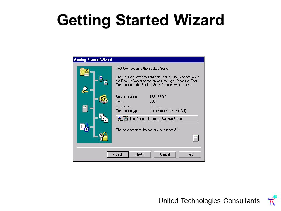 United Technologies Consultants Getting Started Wizard
