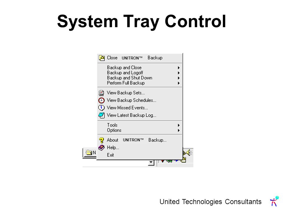United Technologies Consultants System Tray Control UNITRON
