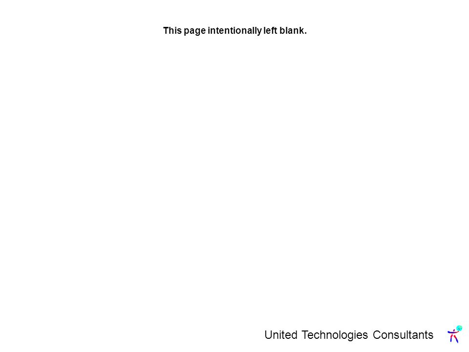 United Technologies Consultants This page intentionally left blank.