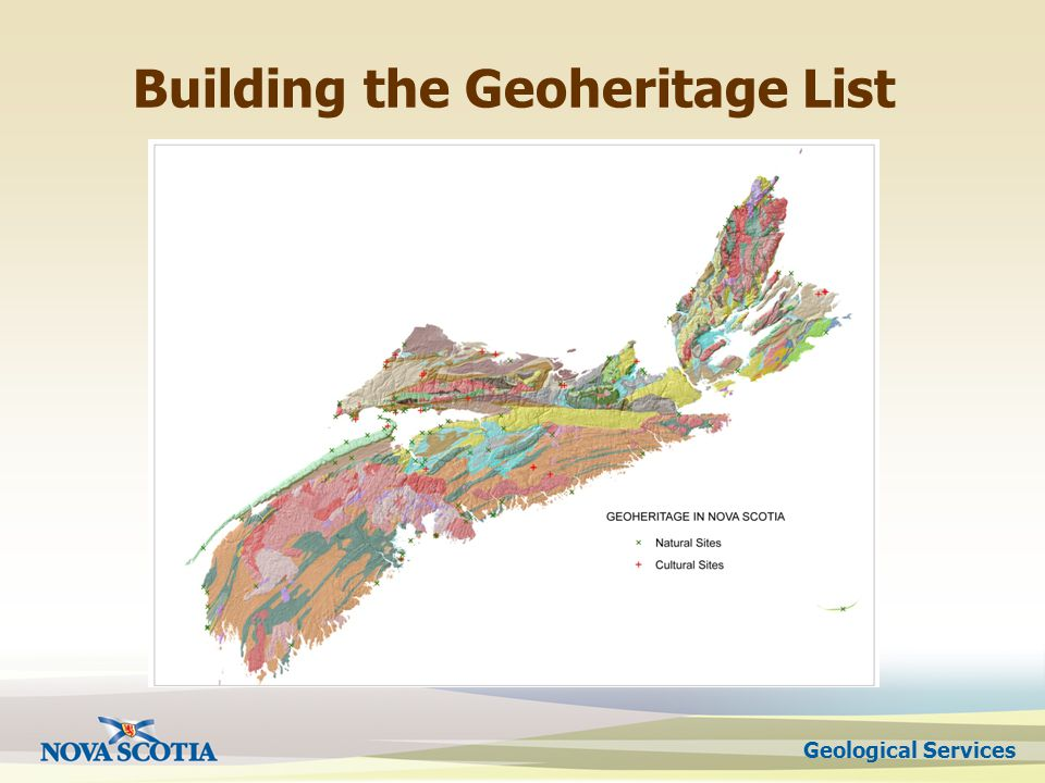 Geological Services Building the Geoheritage List