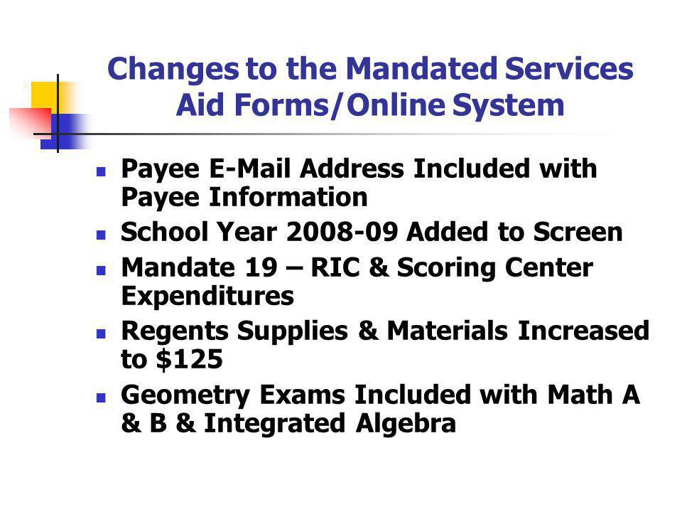 Regents Exam Screen