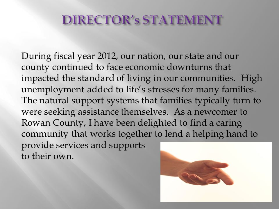 The Department of Social Services is one of those community partners available to assist families and individuals during times of need.