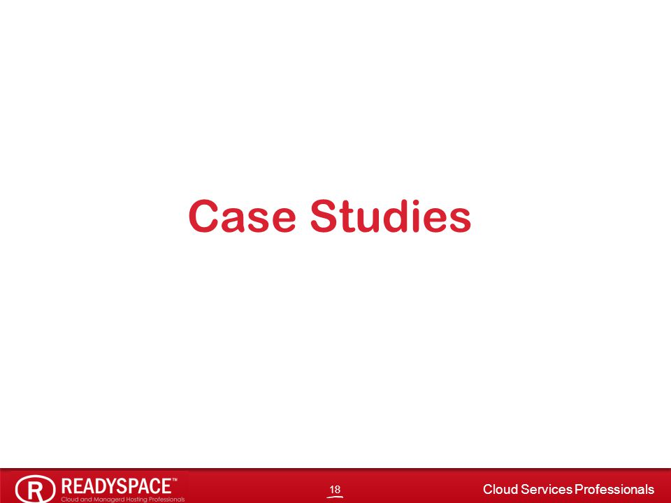 18 Cloud Services Professionals Case Studies