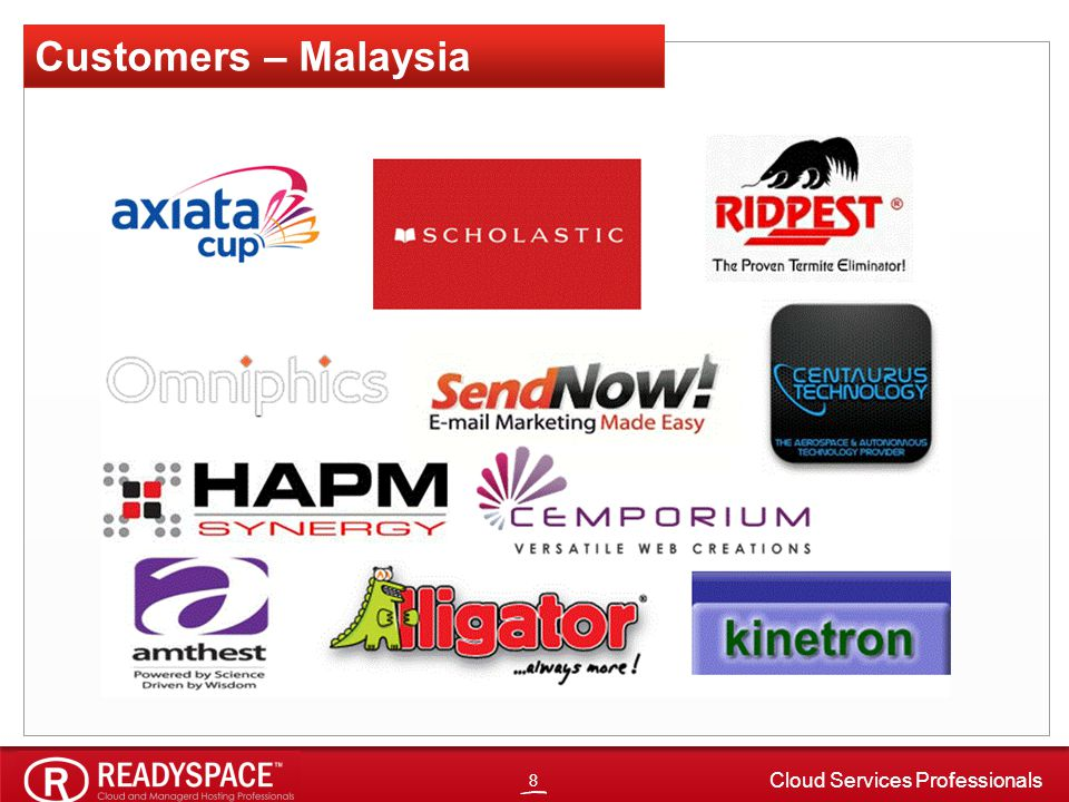 8 Cloud Services Professionals Customers – Malaysia