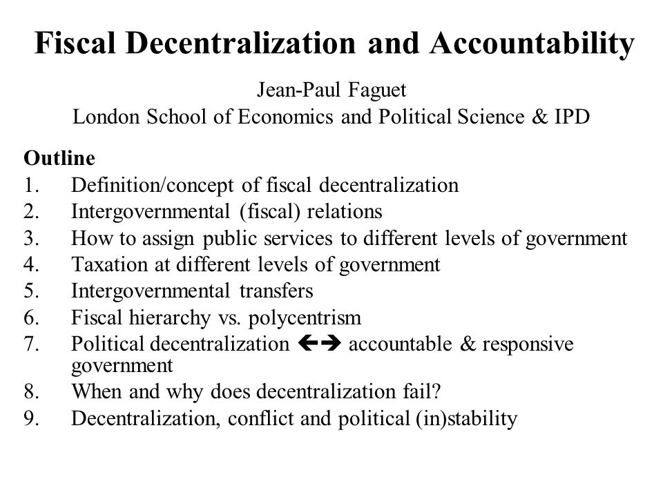 Decentralization and School Enrollment