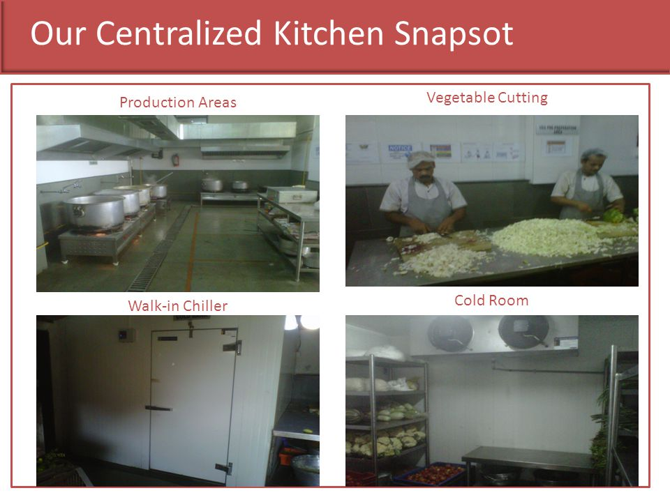 Our Centralized Kitchen Snapsot Production Areas Vegetable Cutting Walk-in Chiller Cold Room