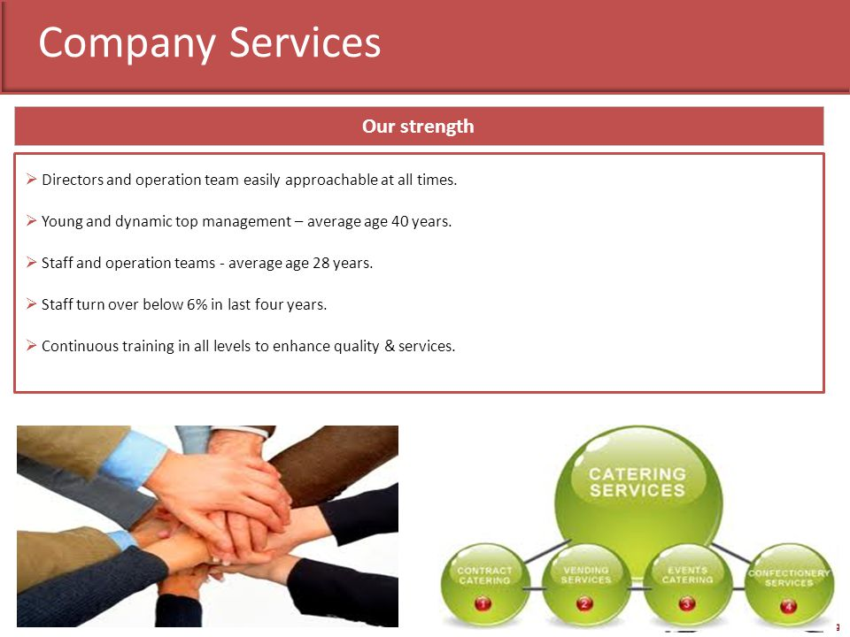Our Client Benefit Quality & Service Benchmark Hygienic Environment One Stop Solution for all F&B needs Worry free Professional Atmosphere Consistency in product & service Vibrant Organizational Environment Satisfied Employees Positive Step towards Organizations Vision.