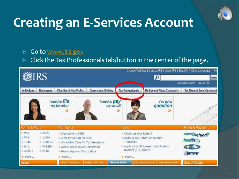 1 Creating an E-Services Account Taxware Systems, Inc. 800-877-1065
