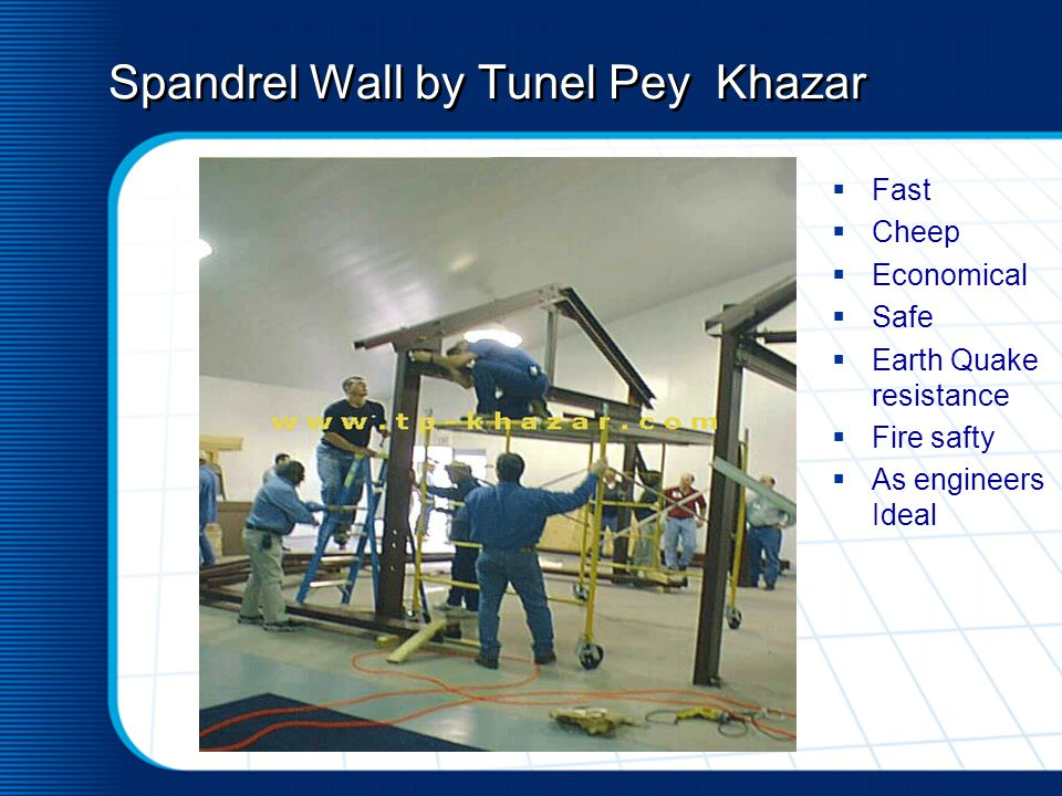 Spandrel Wall by Tunel Pey Khazar Fast Cheep Economical Safe Earth Quake resistance Fire safty As engineers Ideal