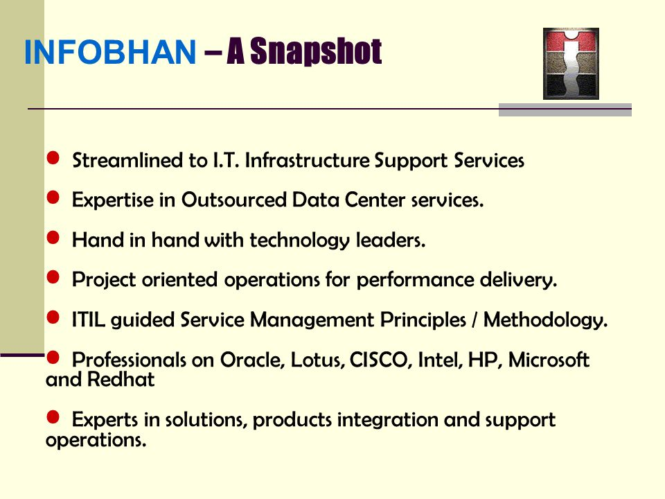INFOBHAN – A Snapshot Streamlined to I.T.