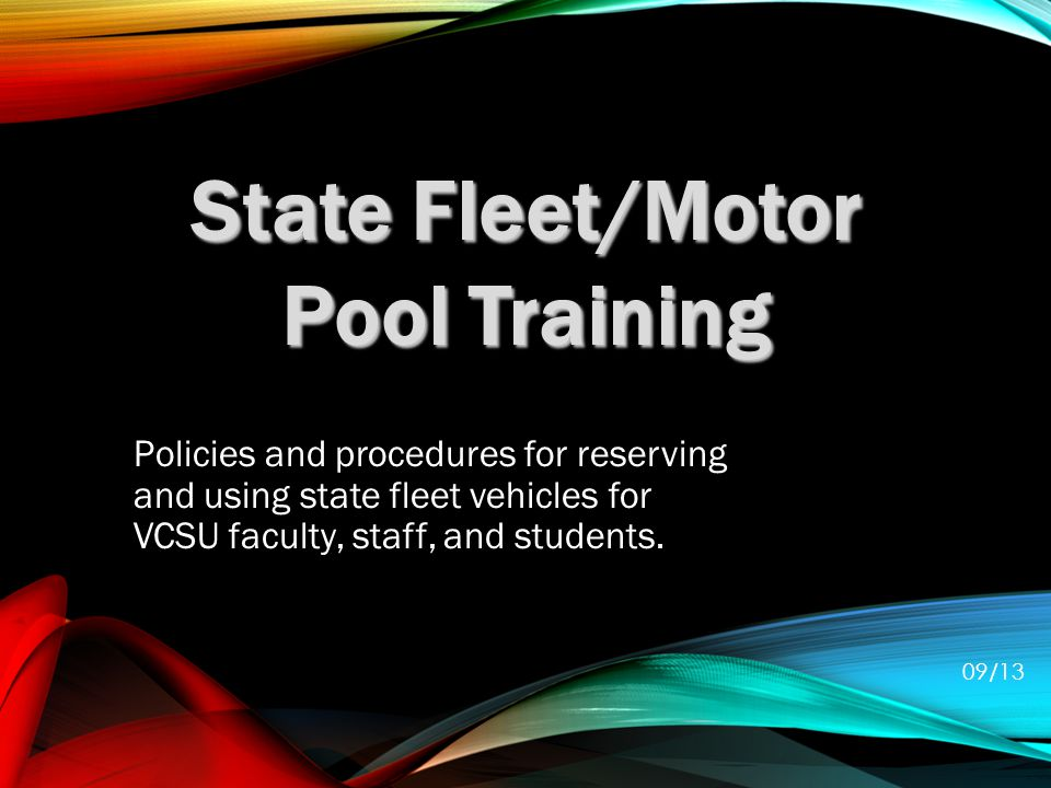 Policies and procedures for reserving and using state fleet vehicles for VCSU faculty, staff, and students.