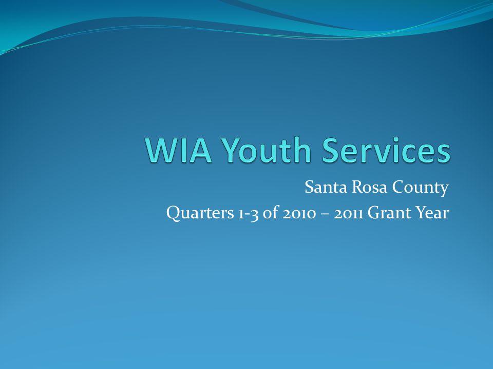 Santa Rosa County Quarters 1-3 of 2010 – 2011 Grant Year