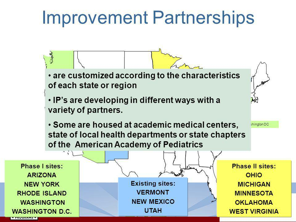 are customized according to the characteristics of each state or region IPs are developing in different ways with a variety of partners.