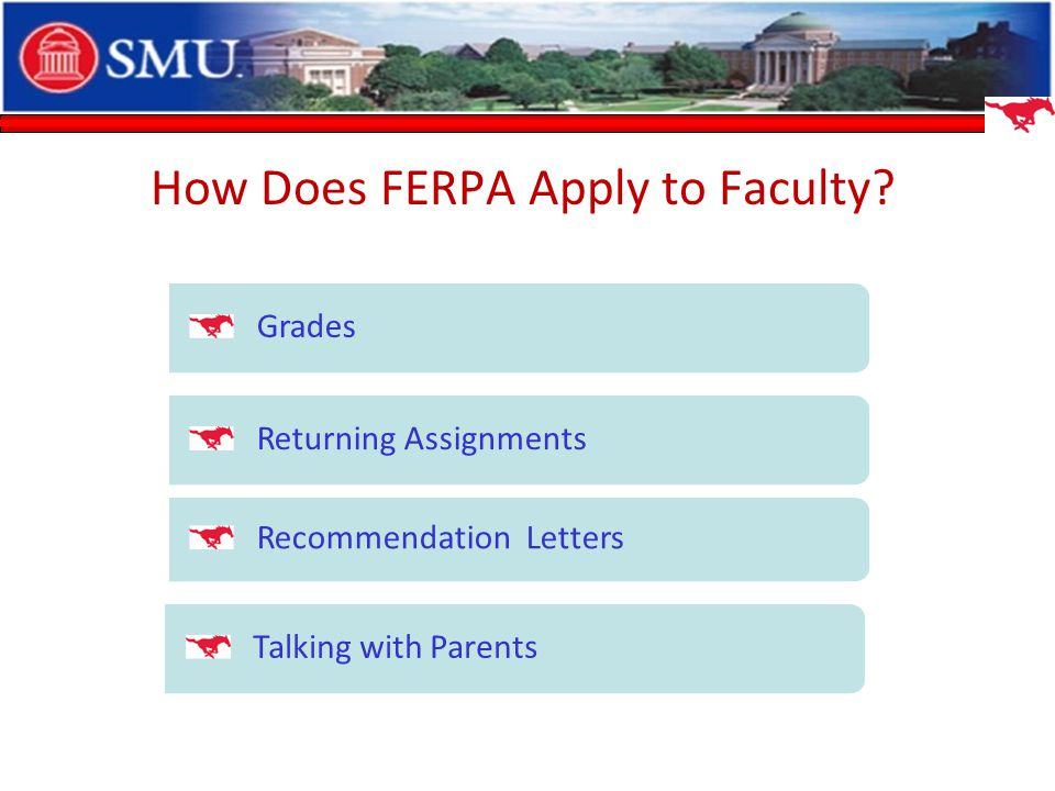 How Does FERPA Apply to Faculty.