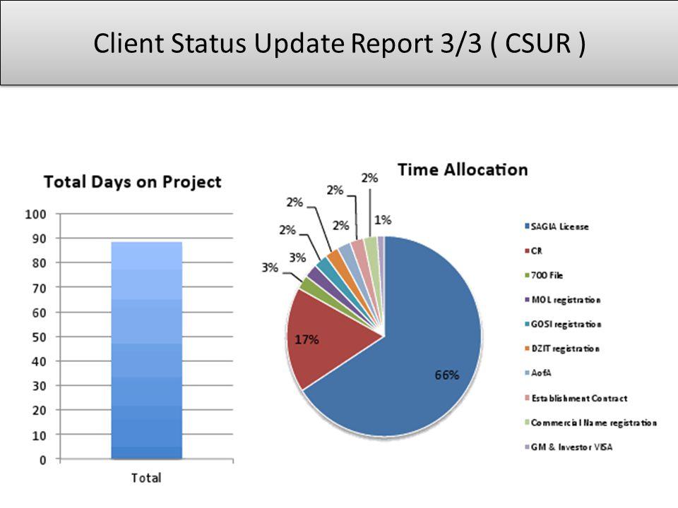 Client Status Update Report 3/3 ( CSUR )
