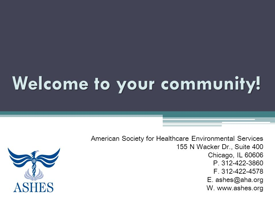 Welcome to your community.