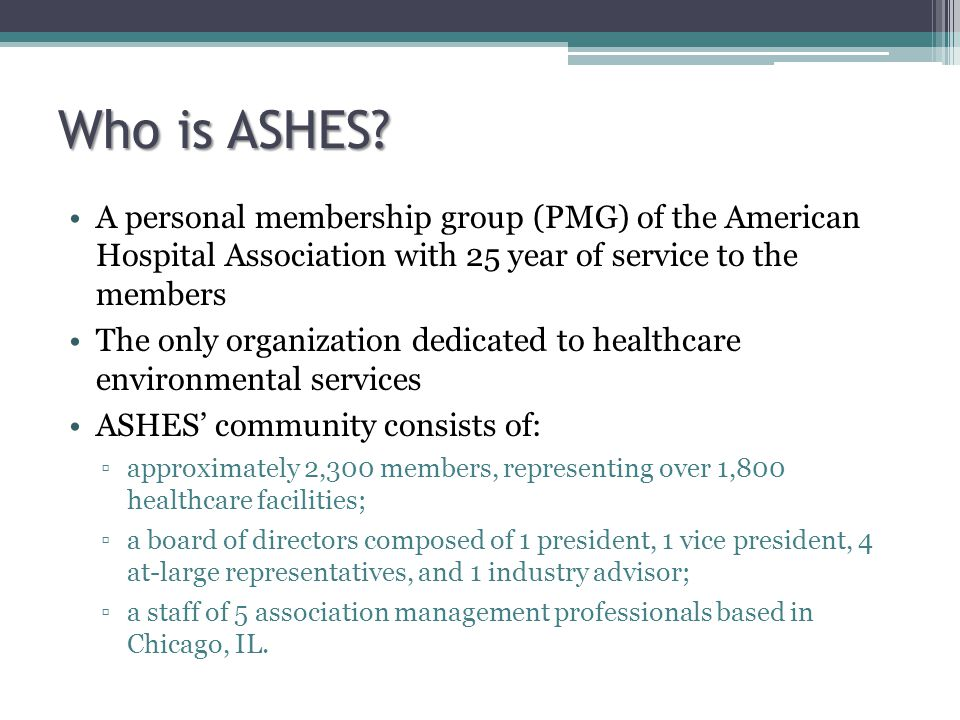 Who is ASHES.