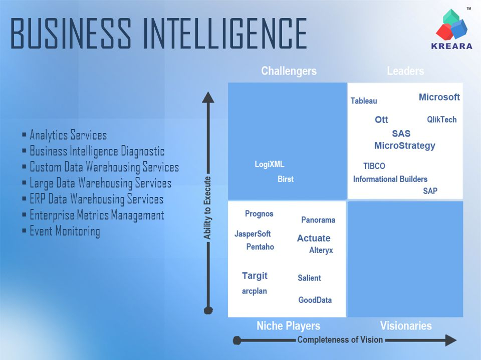 Analytics Services Business Intelligence Diagnostic Custom Data Warehousing Services Large Data Warehousing Services ERP Data Warehousing Services Ent