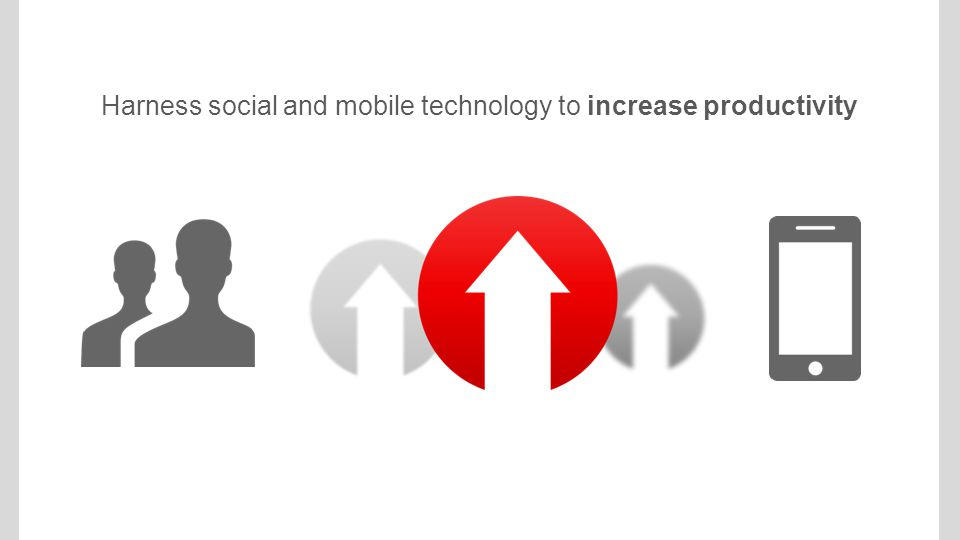Harness social and mobile technology to increase productivity