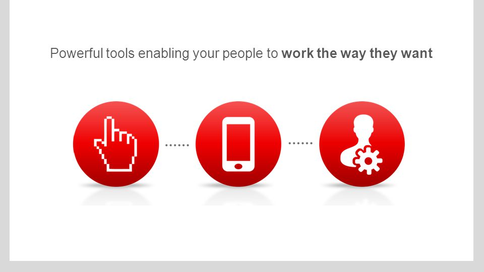 Powerful tools enabling your people to work the way they want