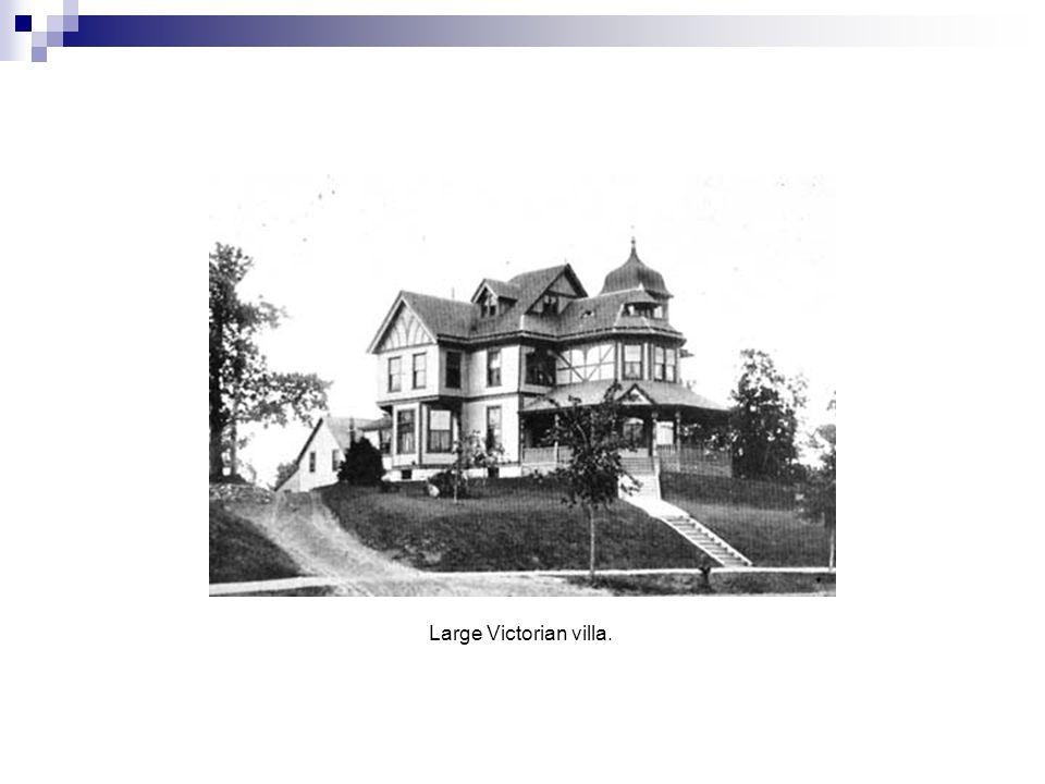 Large Victorian villa.