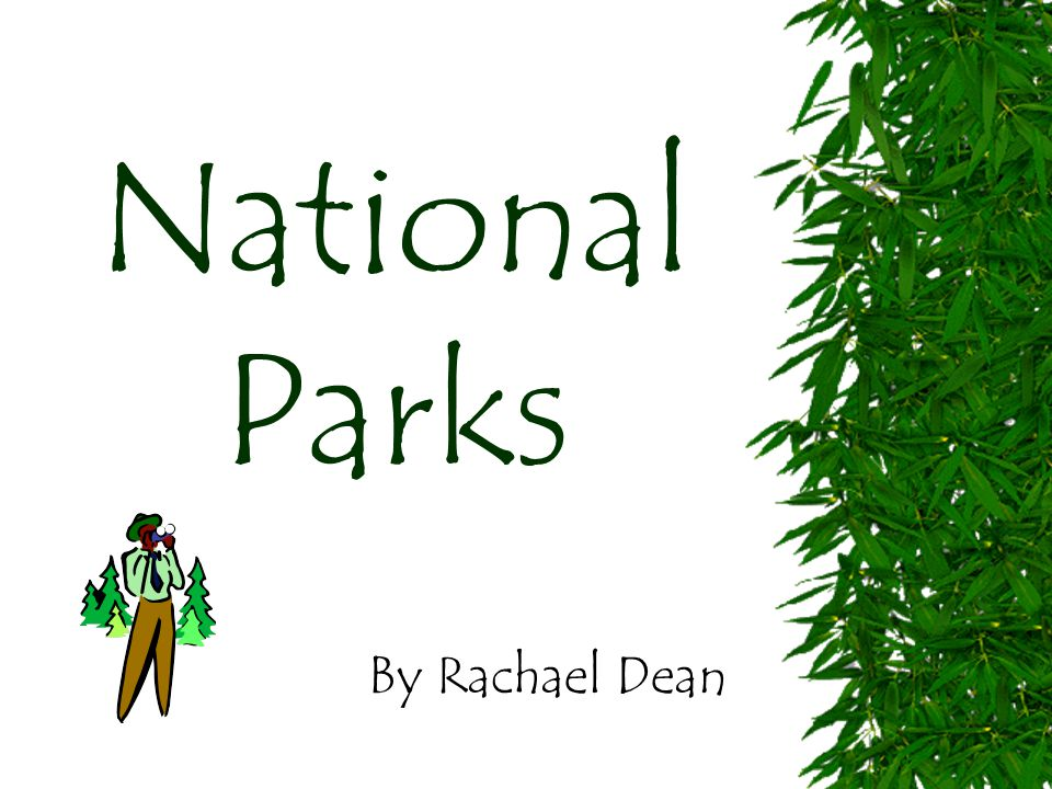 National Parks By Rachael Dean