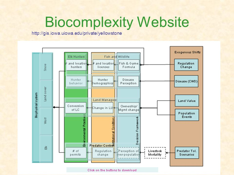 Biocomplexity Website http://gis.iowa.uiowa.edu/private/yellowstone