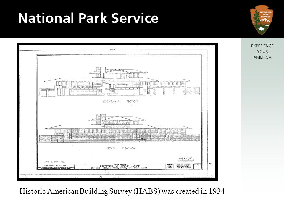 Historic American Building Survey (HABS) was created in 1934