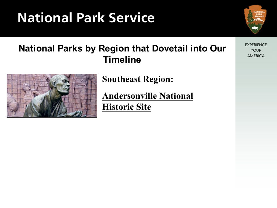 National Parks by Region that Dovetail into Our Timeline Southeast Region: Andersonville National Historic Site