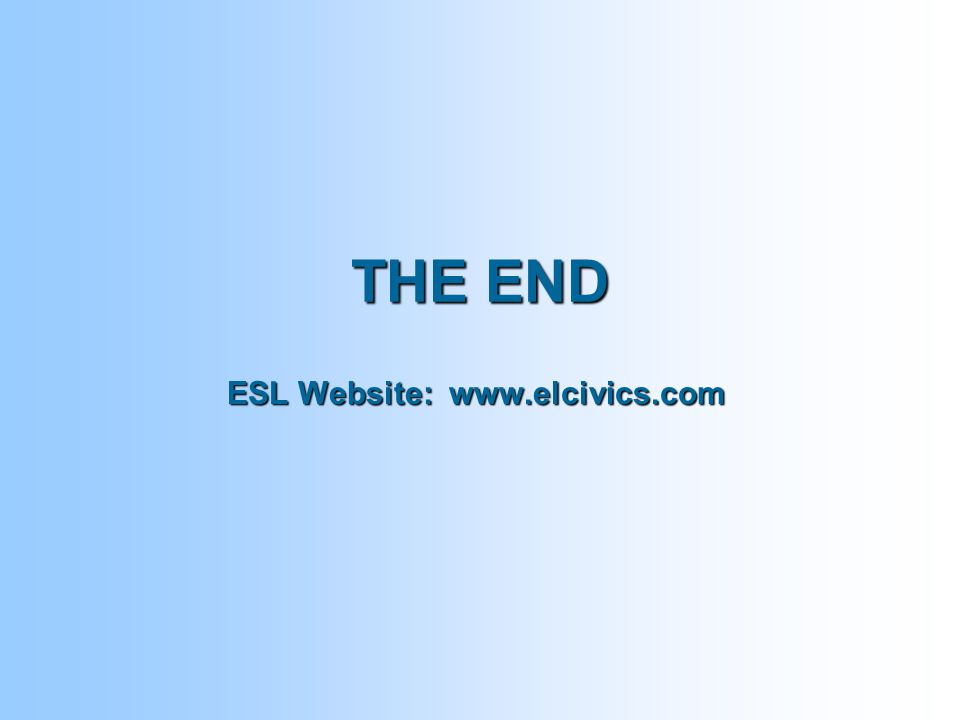 THE END ESL Website: