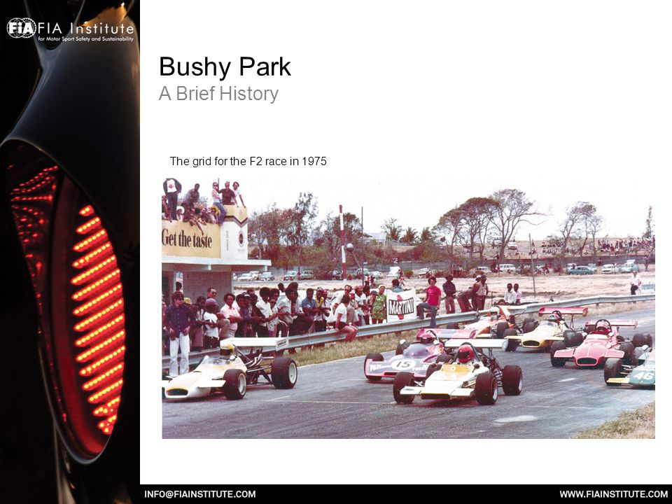 Bushy Park A Brief History The grid for the F2 race in 1975