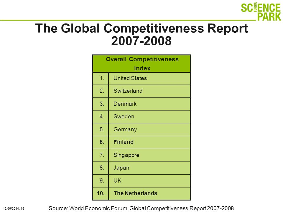 13/06/2014, 15 The Global Competitiveness Report 2007-2008 1.