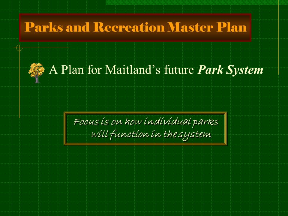 Economic Benefits of Parks and Recreation Attracts home buyers Attracts businesses Increases property values Park 20% 10% 5% Proximity Principle
