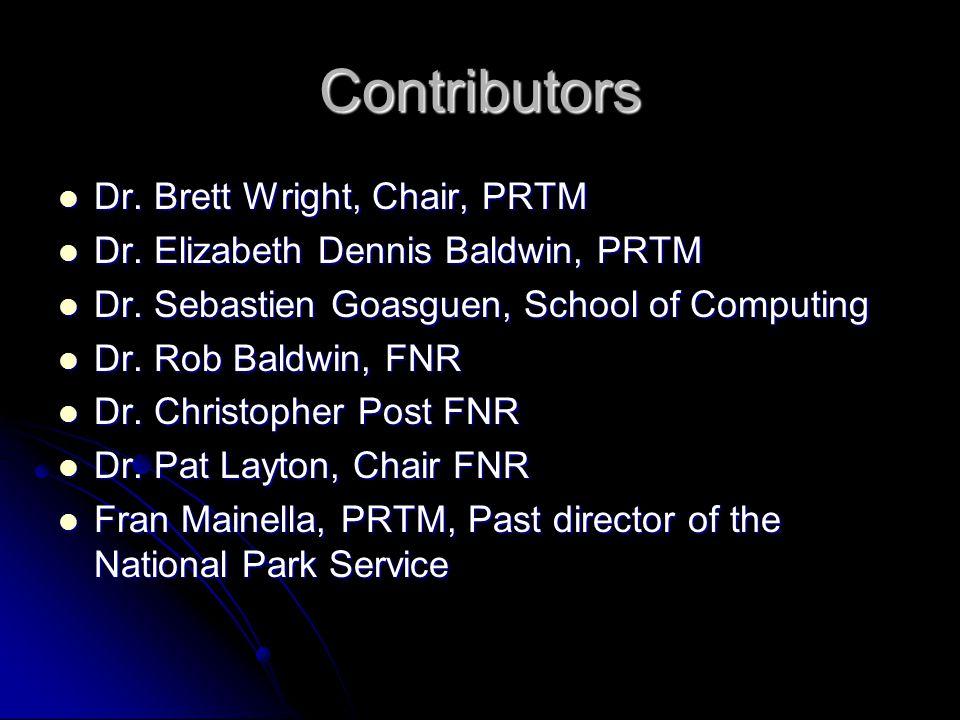 Contributors Dr. Brett Wright, Chair, PRTM Dr. Brett Wright, Chair, PRTM Dr.