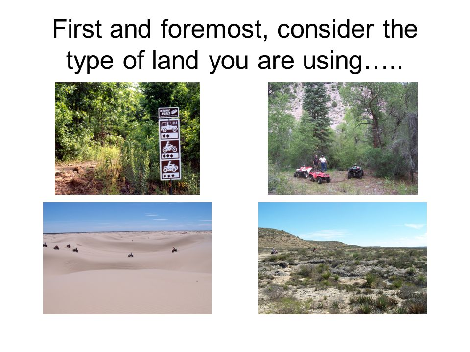 And just how much of it you want to devote to offroad use….