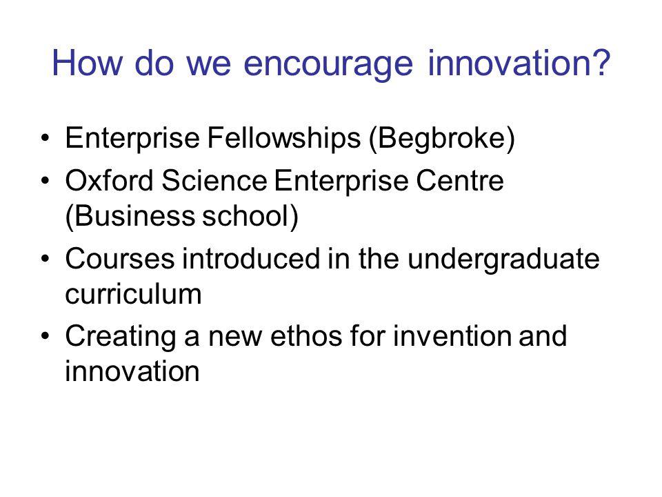 How do we encourage innovation.