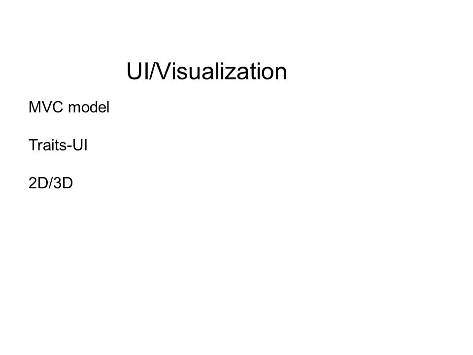 UI/Visualization MVC model Traits-UI 2D/3D