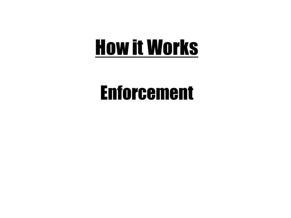 How it Works Enforcement