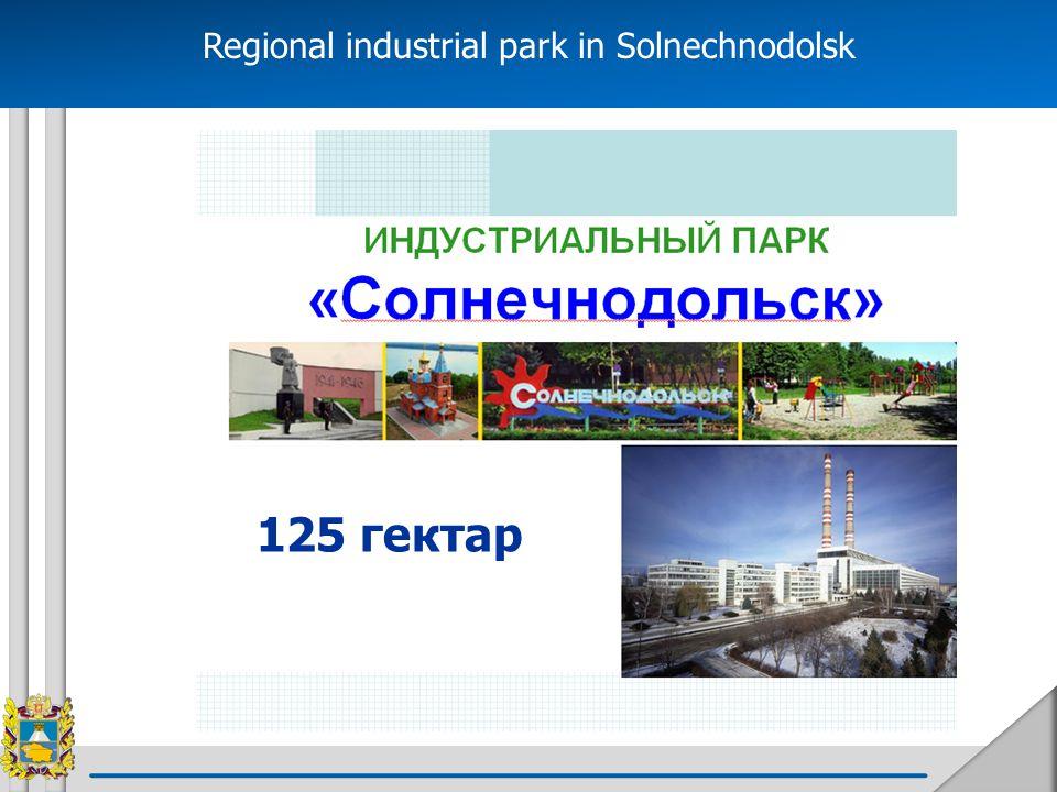 Regional industrial park in Solnechnodolsk 125 гектар