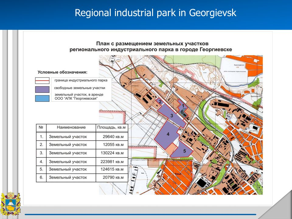 Regional industrial park in Georgievsk