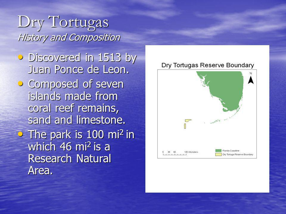 Dry Tortugas History and Composition Discovered in 1513 by Juan Ponce de Leon.