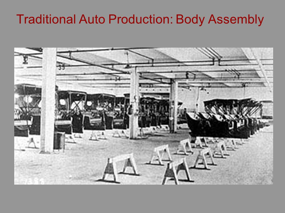 Traditional Auto Production: Body Assembly