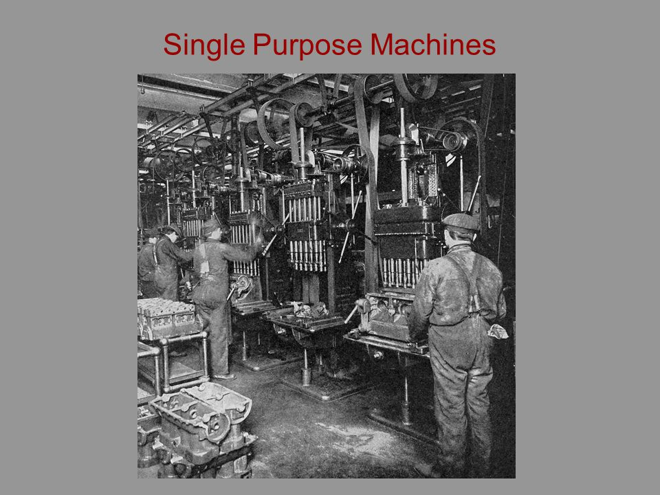 Single Purpose Machines