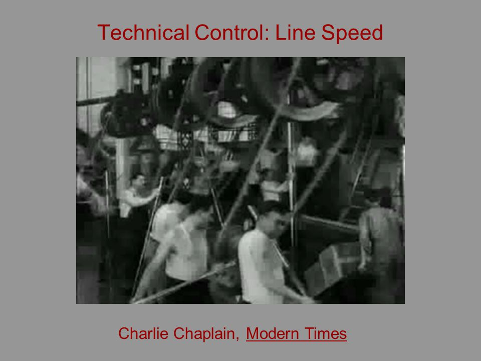 Technical Control: Line Speed Charlie Chaplain, Modern Times