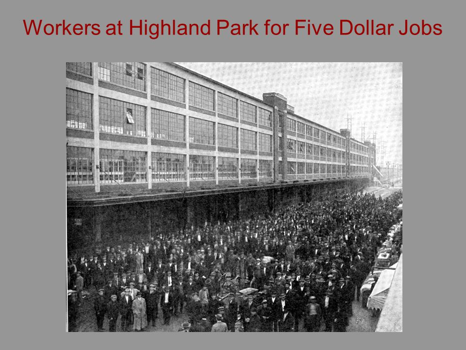 Workers at Highland Park for Five Dollar Jobs
