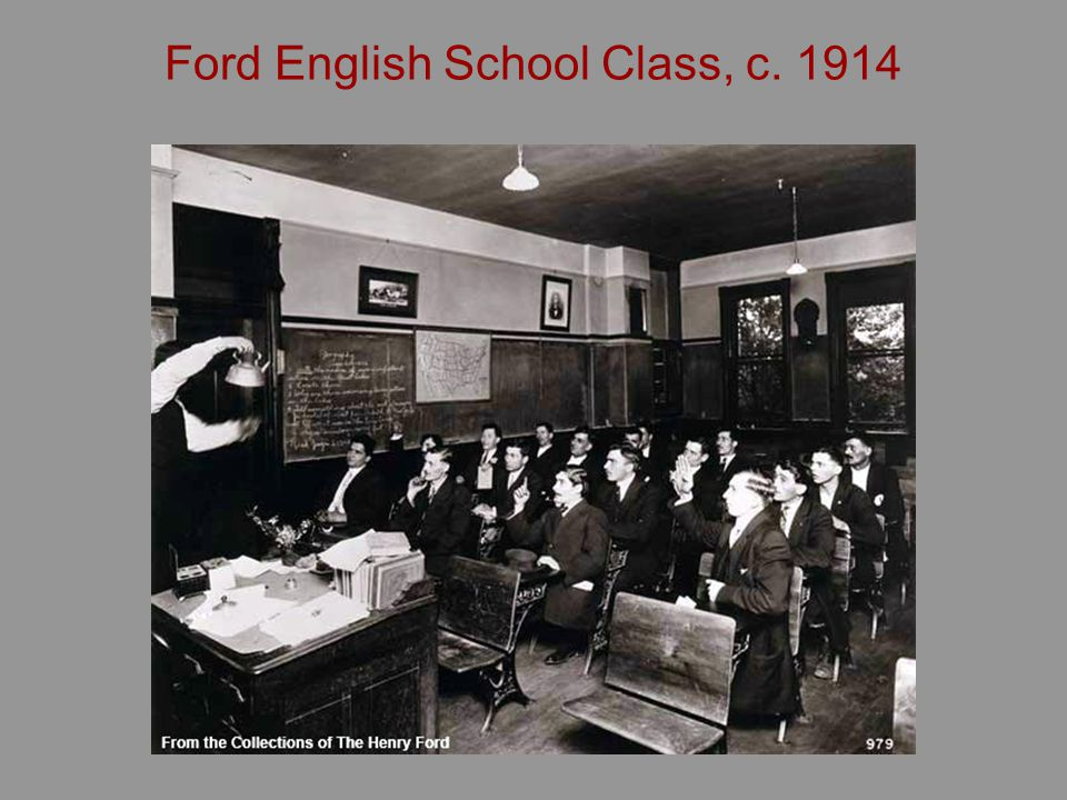 Ford English School Class, c. 1914